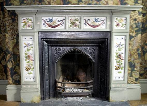 A fireplace at Dunthwaite House.